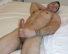 Good looking guy jacking off